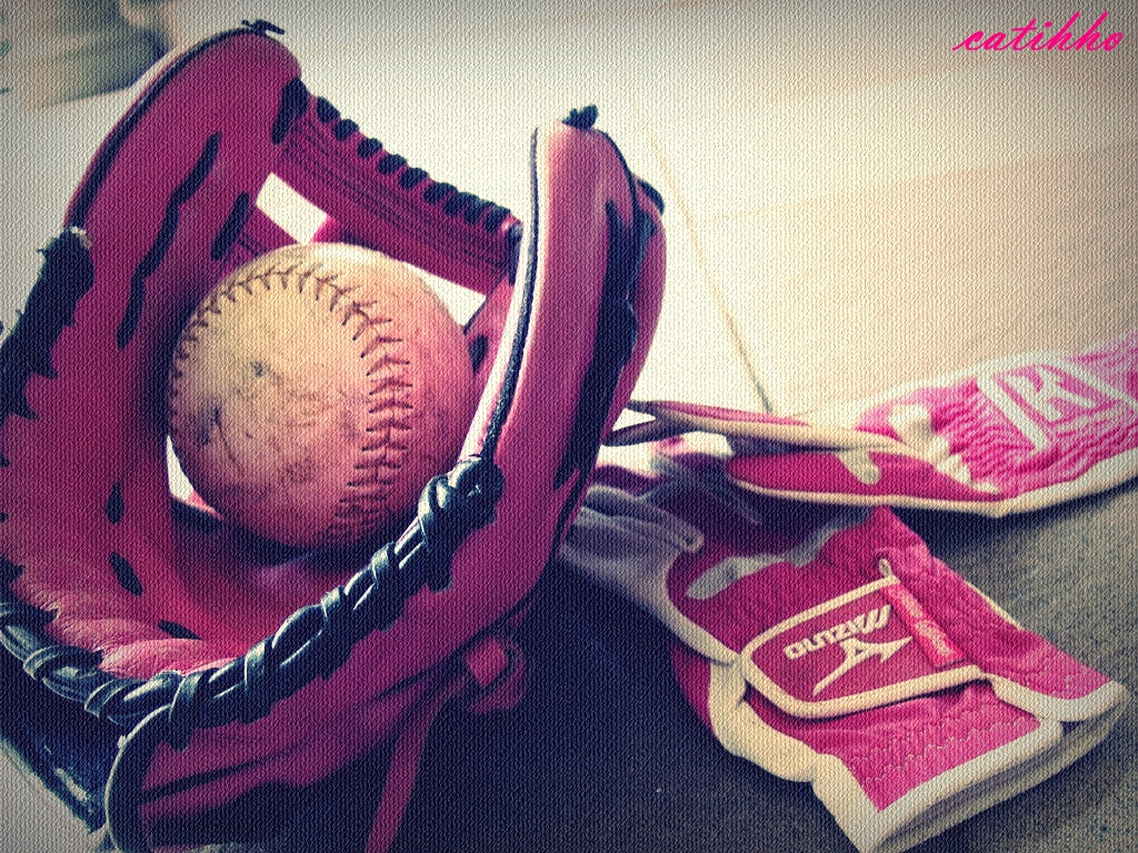 Softball and glove tumblr